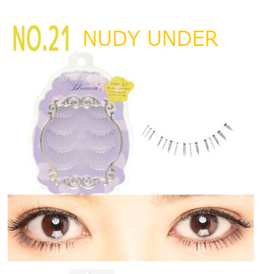 "Miche Bloomin' False Eyelashes 4 Pairs Nude Eye Lashes ""No.21 NUDY UNDER"" JAPAN"