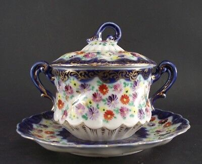 Royal Nippon Or Japan Fancy Decorated Covered Sugar Bowl Unmarked
