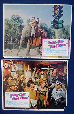 Sonny & Cher 1967 (7) seven lobby cards movie posters GOOD TIMES