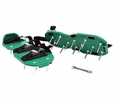Ohuhu Lawn Aerator Sandals with Metal Spikes, Free Size