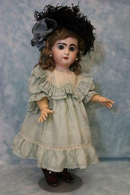 20 Inch Antique Tete Jumeau French Bisque Doll with Jumeau Shoes! circa 1890s