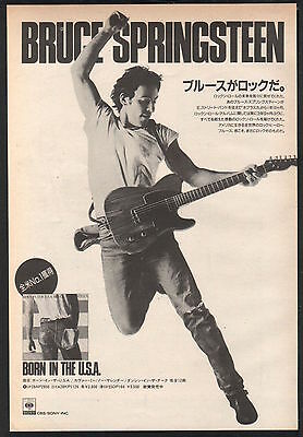 1984 Bruce Springsteen Born In The USA JAPAN album promo / mini poster ad / bs9r
