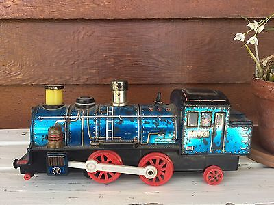 Vintage Collectable Toy Tin Locomotive Train Made By Modern Toys Japan