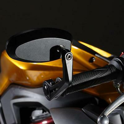 """Custom Cafe Racer Motorcycle Bar End Rear View Mirrors 7/8"""" For Ducati Triumph"""