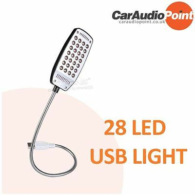 28 LED USB Snake Flexible Portable Light Lamp for Notebook Computer PC Laptop