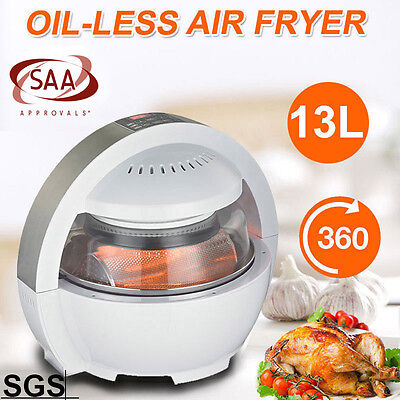 Multifuctional LCD Air Fryer Healthy Cooker Low Fat Oil Free 1300w 13L AU Stock