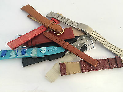 10 Stock Strap Watch Cinturini Orologio Band Uhr Vintage Small Defects St1452 De