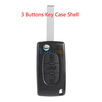Remote Key Fob Shell Case Housing 3 Buttons For Peugeot 406 407 408 307 107 207