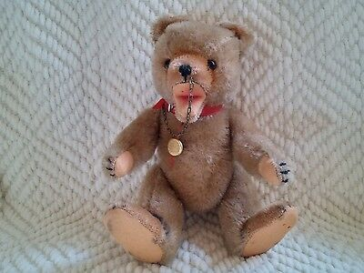 Vintage Hermann Teddy Cirkus Circus Bear Mohair Open Mouth Jointed Hump Back