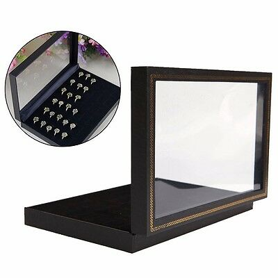 36 Hole Ring Jewelry Display Storage Box Tray Show Case Organiser Earring Holder