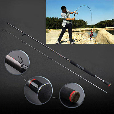 1.8m Carbon Fiber Fishing Rods Spinning Hand Boat Sea Rod Telescopic Carp Tackle