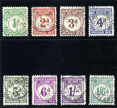 Gilbert & Ellice Is 1940 KGVI Postage Due set complete VFU SG D1-D8. Sc J1-J8.