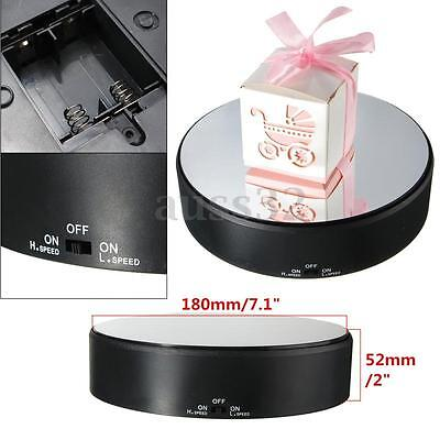 Battery Powered Jewelry Watch Phone Toy Rotating Rotary Display Stand Turn Table