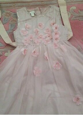 Monsoon Girls Party Occasion Bridal Wedding Bridesmaid Dress Pink Sparkly 4