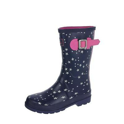 Joules Kids Junior Welly Navy Star Various Sizes