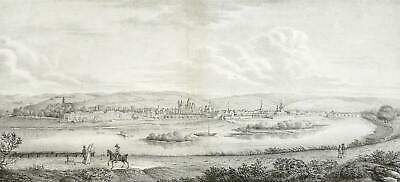 TRIER - Christoph Harwich - Panoramaansicht - Lithographie 1823