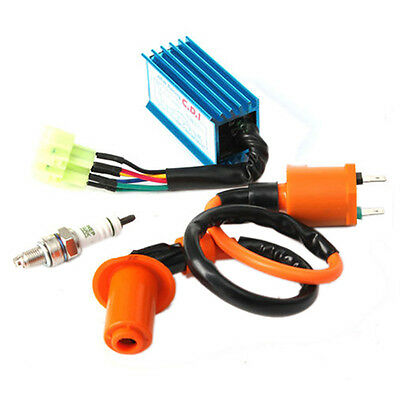 Racing Ignition Coil+Spark Plug+CDI Box For GY6 50-150cc 4-Stroke Engines ATV FK