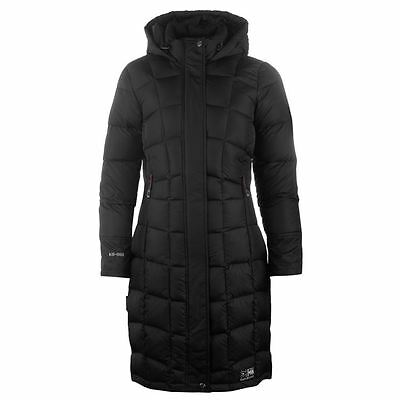 Karrimor Long Duck Down Jacket Ladies Padded Warm Winter Coat All Sizes 8-18