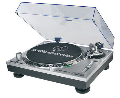 Audio Technica AT-LP120-USBHC Turntable - Silver Finish.