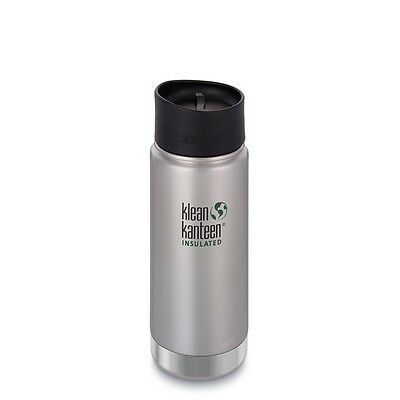 Klean Kanteen Wide Vacuum Insulated Bottle 473Ml (Brushed Stainless)