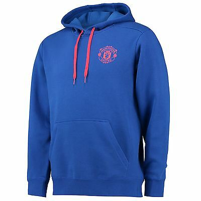 adidas Mens Gents Football Soccer Manchester United Core Hoody Hoodie - Blue