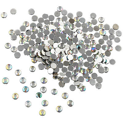 1000X Nail Art Flatback Crystal AB Resin Women Jewelry Round Rhinestone 4mm FK