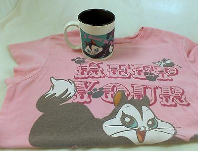Pussyfoot Marc Anthony KItty MUG & Large T-Shirt Warner Brothers wb Looney Tunes