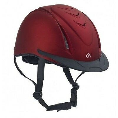 Ovation Deluxe METALLIC Schooler Riding Helmet - Different Colors and Sizes