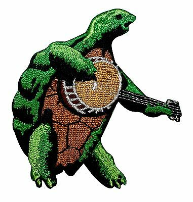 Turtle Playing Banjo Grateful Dead Band Terrapin Station Iron On Applique Patch