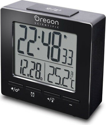 Oregon Scientific Sveglia digitale Doppio allarme Snooze Calendario Nero RM511