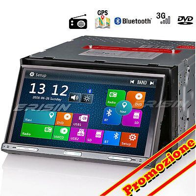 2 Din Autoradio GPS DVD USB SD 3G Bluetooth DVR/DTV-IN RDS VMCD Stereo 7051YD