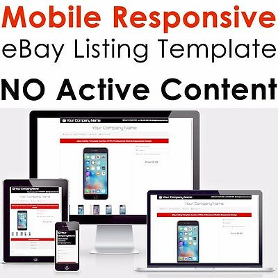 Template Responsive Ebay Listing Html Professional Auction 2017 Mobile Design
