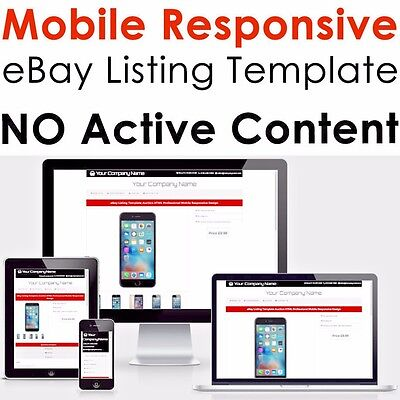 eBay Listing Template Professional Mobile Responsive Design HTML 2018 Universal