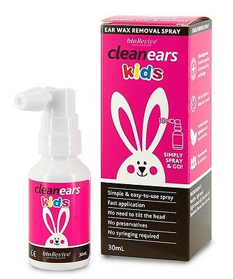 New 30ml CleanEars Ear Wax Kids Removal Spray Ear Canal Cleaner