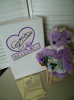 Kallie Purple Garden Annette Funicello Bear in Box 8092