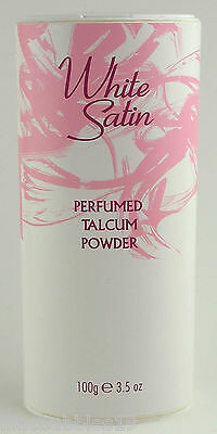 White Satin Perfumed Talc Talcum Body Dusting Powder 100G New Perfect Gift