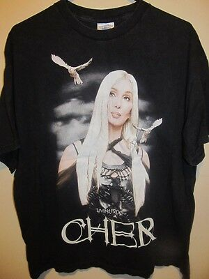 2002 / 2003 CHER tour shirt , Living Proof , X-large