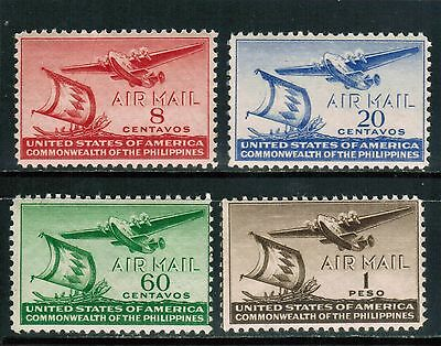 Philippines Air Mail 1941 Sc#C59-62 Moro Vinta  and Clipper,  MH cp3