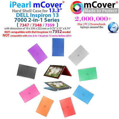 """NEW iPearl mCover Hard Case for 13"""" Dell Inspiron 13 7347 7348 7359 2in1 laptop"""