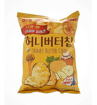 60g Haitai Bite Honey Butter Seasoned Potato Chip Korean Snack Korea Famous Food