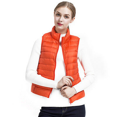 Winter Women Duck Down Vest Feather Coat Lady Warm Waistcoat Jacket