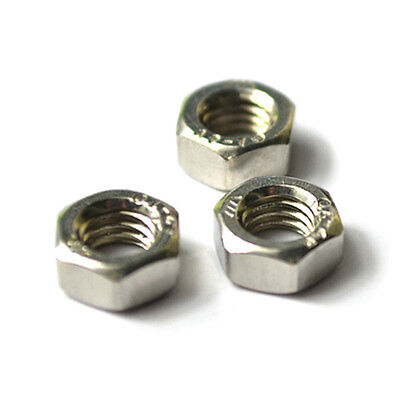 Metric M16x2mm Stainless Steel Finished Hex Nut Silver Tone 4pcs