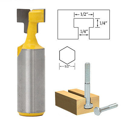 1/2'' T-Slot Cutter 1/2'' Shank Steel Handle Milling Router Bit For Woodworking