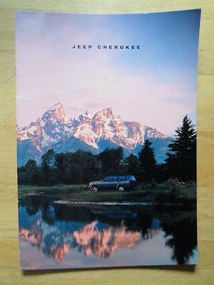 JEEP CHEROKEE 1991-1992 UK Mkt Glossy Sales Brochure - Limited Sport
