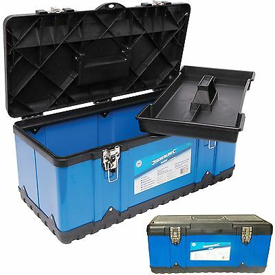 Heavy Duty Metal 580mm Tool Box Chest Storage Case + Removable Tray 23 Inch