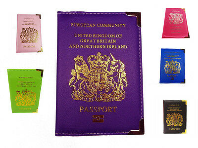 European Passport Protector Holder Cover Wallet Travel Bag PU Leather Quality