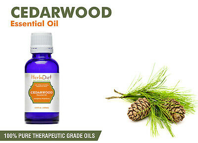 Cedarwood Essential Oil 100% Pure Natural Therapeutic Grade Oils - New/Sealed