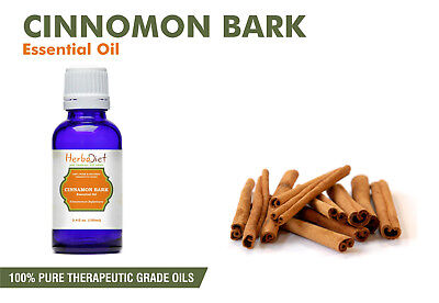 Cinnamon Bark Essential Oil 100% Pure Natural Therapeutic Grade Oils- New/Sealed
