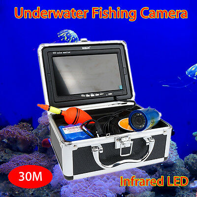 Fish Finder Underwater 30M Video IR Camera Color HD 1000 TV Monitor+Sun Shield