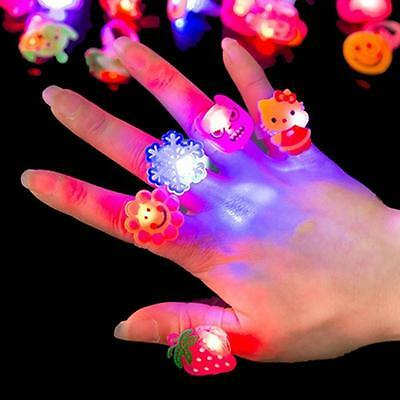 UP 11 Styles New LED Light 1Pcs Cute Cartoon Children Resin ABS Ring Toys Gift
